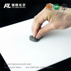 Abrasion resistant pc for anti static machine guards