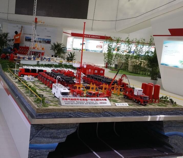 页岩气沙盘模型 2