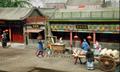 中式古建築場景沙盤