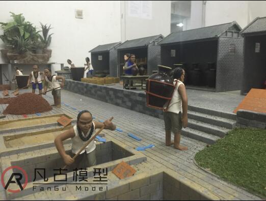 中式古建筑场景沙盘 4