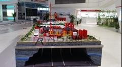 化工廠區沙盤模型