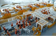 工业汽车生产线沙盘模型