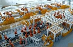 工業汽車生產線沙盤模型