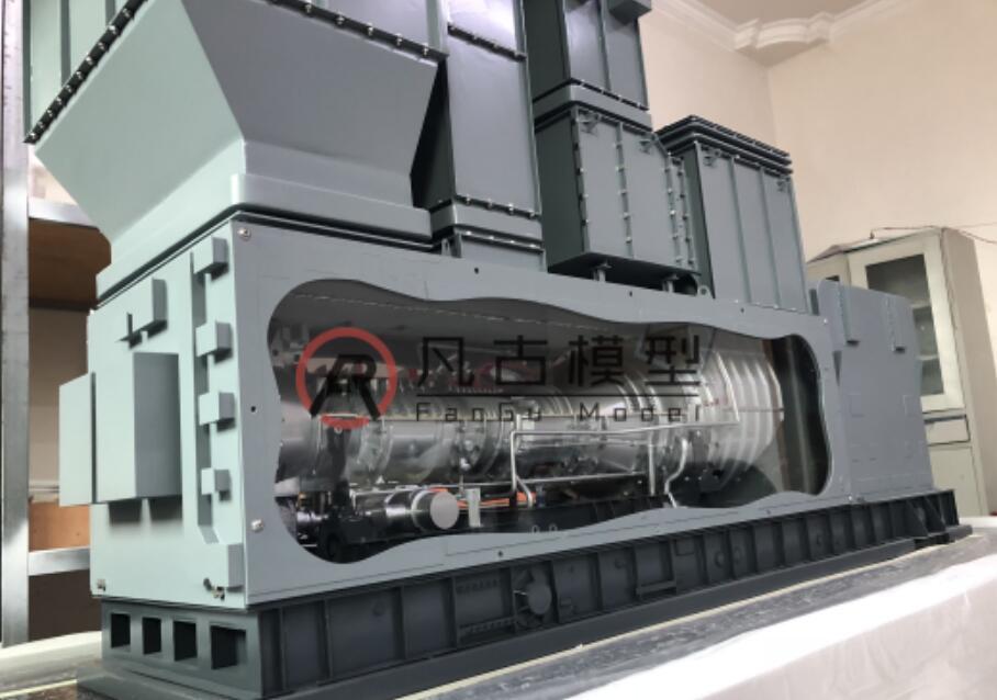 全金屬燃氣輪機設備模型 1
