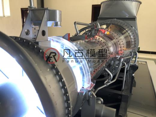 全金屬燃氣輪機設備模型 4