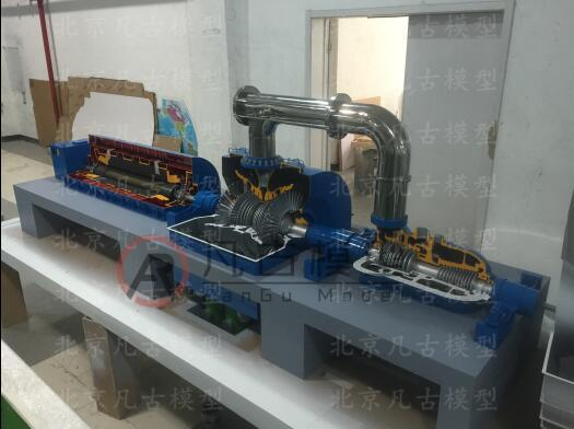 全金屬燃氣輪機設備模型 5