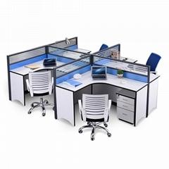 四人位辦公屏風桌椅