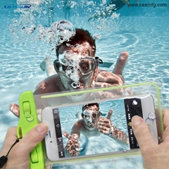 CESMFG Wholesale PVC Luminous Waterproof Phone Case Cover for IPhone and Samsung