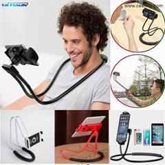 CESMFG Wholesale Flexible Lazy Hanging on Neck Phone Holder 360°
