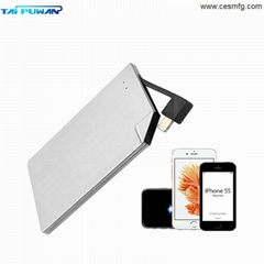 CESMFG Wholesale Credit Card Portable Cell Mobile Phone Power Bank for IPhone