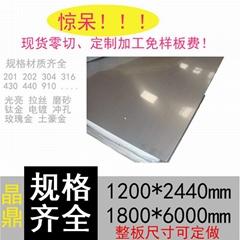 201不锈钢带镜面 304 2B 8K薄片钢皮0.05 0.1mm 0.15 0.2 薄钢板