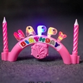 musical  birthday candle cap candle