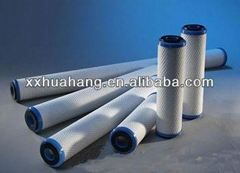activated carbon impregnated cellulose filter cartridge for industry