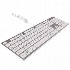 B.FRIENDit壁虎忍者KB1430巧克力静音超薄有线键盘