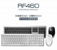 壁虎忍者RF460超薄静音无线键盘鼠标套装