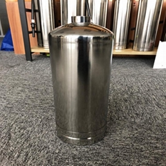 Water fire extinguisher in stainless body