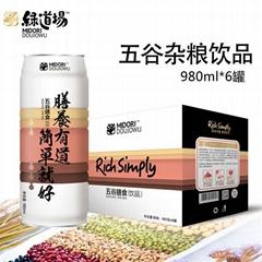 绿道场五谷杂粮饮料商超980ml6罐