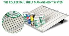 shelf roller track for supermarket display