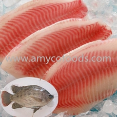 Frozen tilapia fillets with high quality and low price