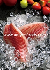 Beautiful frozen tilapia fillet Co treated