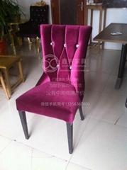 金屬軟包椅