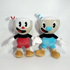 Cuphead Mugman Plush Toy Mecup And Brocup Soft Stuffed Doll 25cm