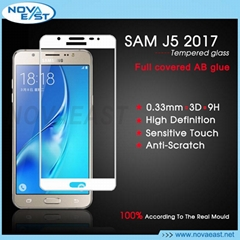 3D full cover tempered glass screen protector for Samsung Galaxy J5