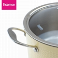FISSMAN 2018 hot sale 2ply Stainless Steel 20cm casserole with lid   2