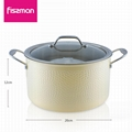 FISSMAN 2018 hot sale 2ply Stainless Steel 20cm casserole with lid   4
