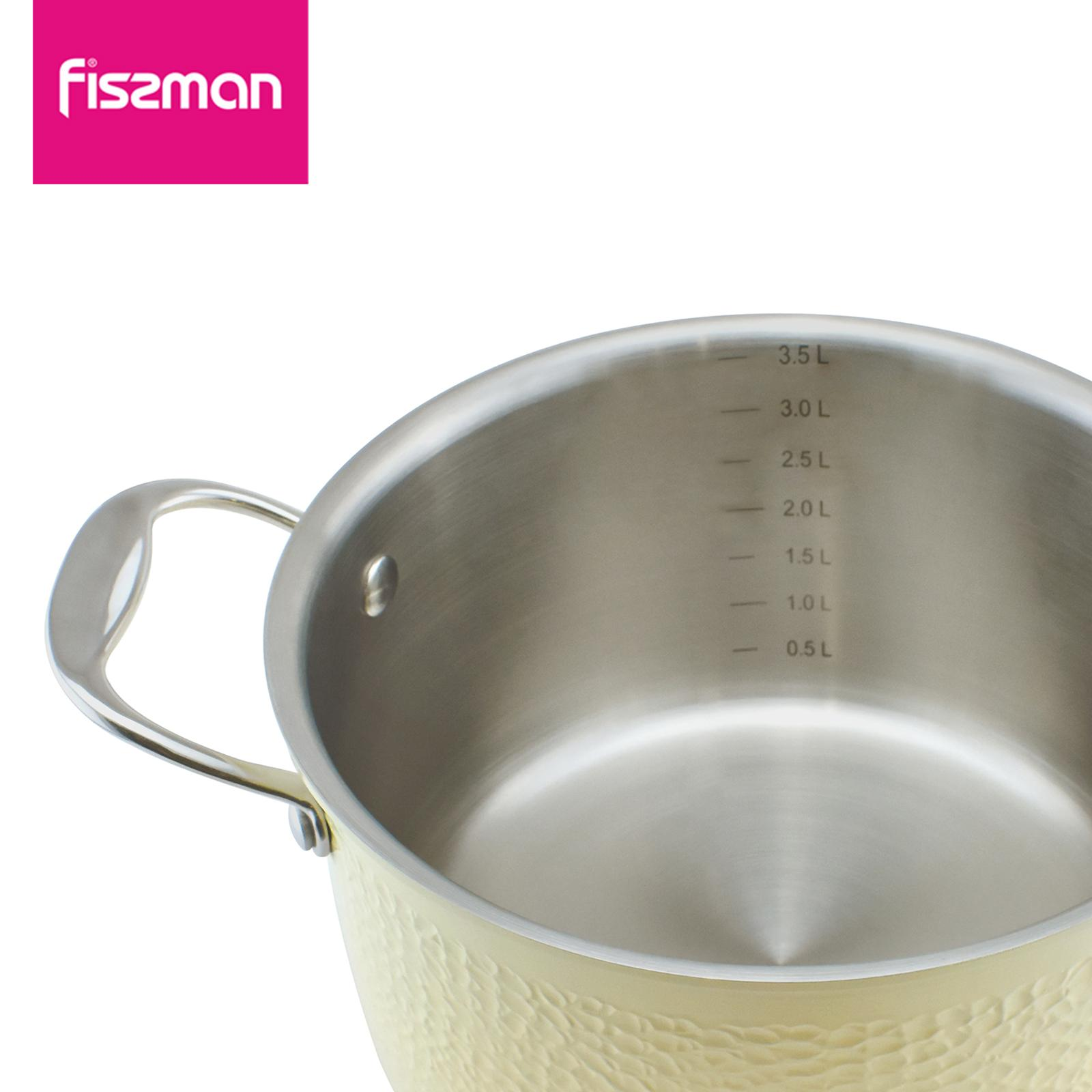 FISSMAN 2018 hot sale 2ply Stainless Steel 20cm casserole with lid   5