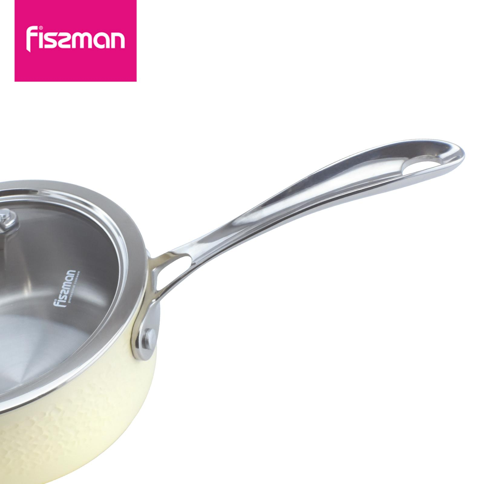 FISSMAN 2018 hot sale 2ply Stainless Steel 16cm Sausepan with lid   4