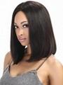 Bob Lace Front Brazilian Straight Virgin Human Hair Wigs