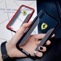 Beautiful car logo phone case clear Ferrari porsche case for iphone X 8 8plus 7