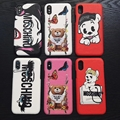 AAAAA+ quality Moschino case for iphone X 8 8plus 7 7plus 6 6plus
