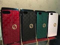 New gucci leather case with bracelet phone case for iphone x 8 8plus 7 7plus 6