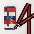New design sweet case Gucci case with belt for iphone X 8 8plus 7 7plus 6