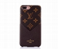 New model leather LV case luxury brand case with casrd for iphone X 8 8plus 7