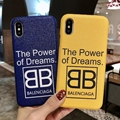 THE POWER OF DREAMS BALENCIAGA PHONE CASE FOR IPHONE X xs xs max xr 8 8plus 7 7p