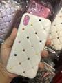 Hotting sale coloured diamond leather case for iphone X 8 8plus 7 7plus 6 6plus
