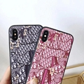 3D leather Dior leather case for iphone XS MAX XR X 8 8plus 7 7plus samsung s10