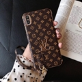 New lv phone case with hang rope phone case for iphone xs max xr 8 8plus 7 7plus