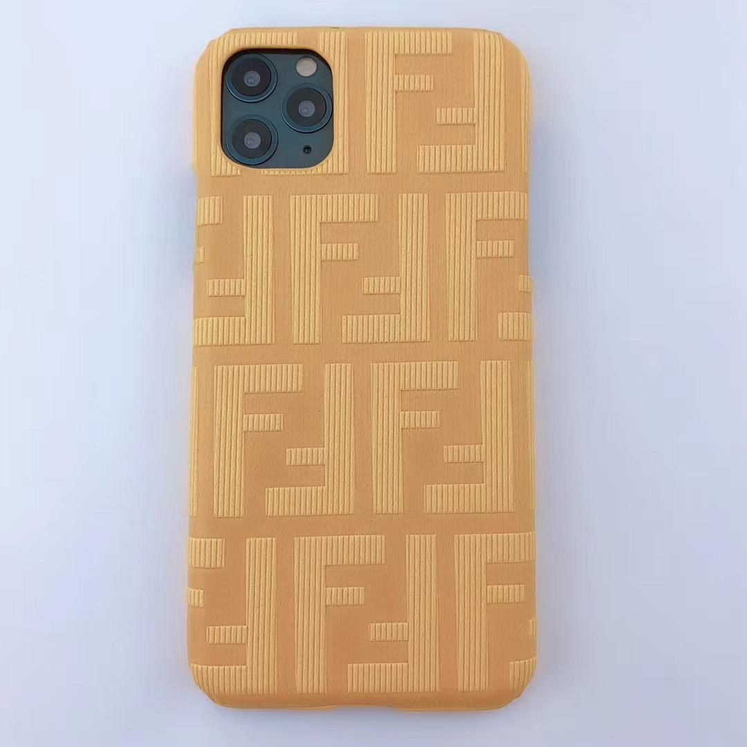 New design Fendi f embossed case for iphone 11 pro max xs max xr 7 8plus samsung 2