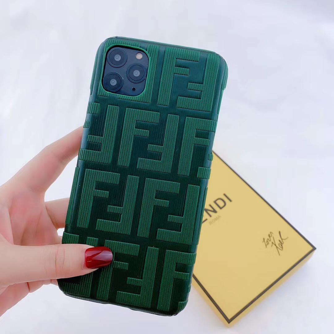 New design Fendi f embossed case for iphone 11 pro max xs max xr 7 8plus samsung 6