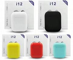 Factory direct sale wireless bluetooth i12 earphone