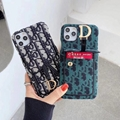 Dior case with holder & card bag for iphone 11 pro max xs max xr 7 8plus