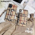 Burberry case with card case for iphone X XS XS max XR 11 pro max 7 8plus