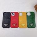 P Brand crocodile grain Leather case for iphone 12 pro max 11 pro max xs max 7 8