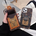 L Brand Leather case with bag belt for