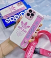 Brand leather case with belt for iphone 12 pro max 11 pro max xs max 7 8