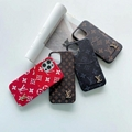 Brand phone case LV case with card for iphone 12 pro max 11 pro max xs max 7 8